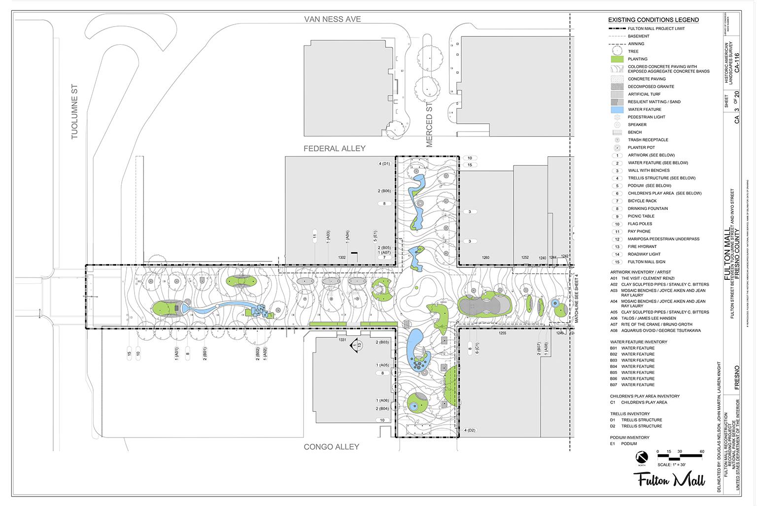 Fulton Mall Historic American Landscape Report Survey (HALS)