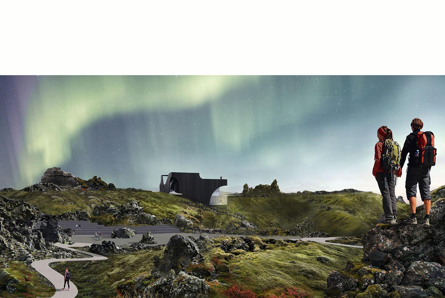 Iceland Black Lava Visitor Center